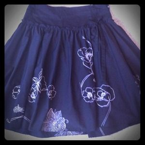 Dresses & Skirts - SOLD!Flower Stitched A-line Skirt