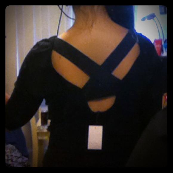 Charlotte Russe Tops - 🔴SOLD🔴 Cute black 3/4 sleeve top