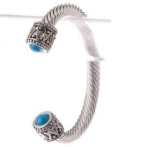 918 Jewelry - Silver Cable Cuff