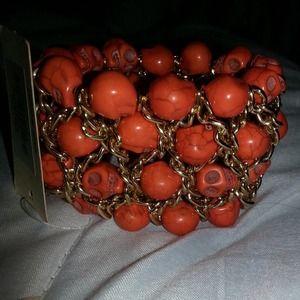 Jewelry - NEW- orange skull bracelet