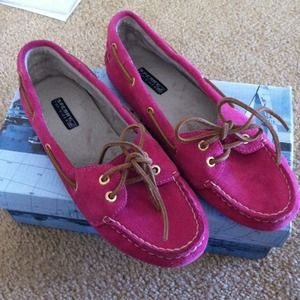 Sperry Top-Sider Shoes - NEW Pink Sperry with leather upper