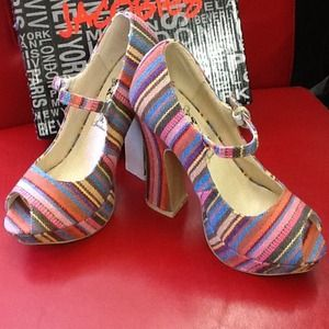 Shoes - Mad Hatter Stripe Platform
