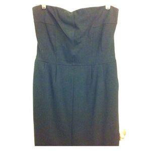 *RESERVED* Express blk strapless mini dress