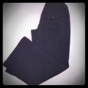 Pants - Pinstripe Black Dress / Work Pants