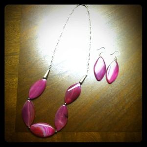 Jewelry - RESERVED Hot pink jewelry set!