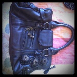 REDUCED 🍀Black Christian audigier handbag