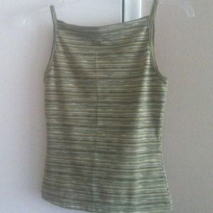Tops - Green stripped tank