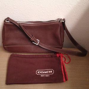 Authentic chocolate Coach purse