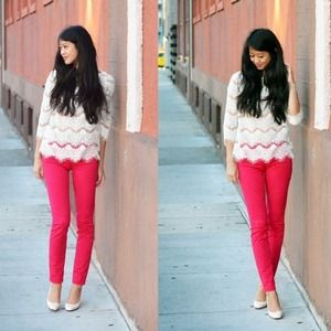 J Brand Pants - Red/bright pink skinny pants