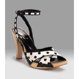 Yves Saint Laurent Shoes - RESERVED! YSL Polka Dot Ankle Strap Sandal
