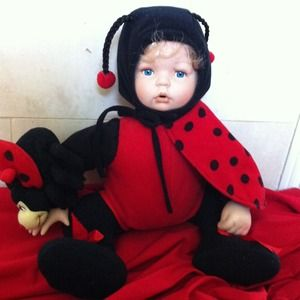 "Porcelain Doll ""LADYBUG"" NEw in Box💝💝💝"