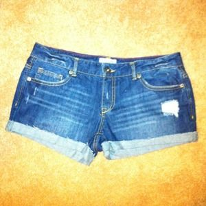 Aeropostale  Denim - ☀Reduced! ☀Dark denim destroyed short shorts!
