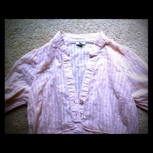 Anthropologie Tops - Anthropologie Odille Peach Button Tunic