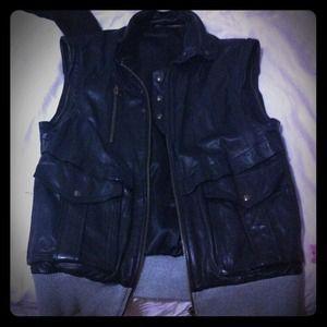 Public School Outerwear - Public School Vintage leather Vest Size Large