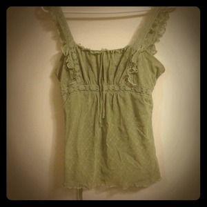 Tops - Lacy light green shirt