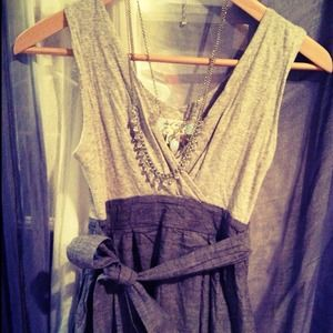 Dresses & Skirts - Gray & denim dress