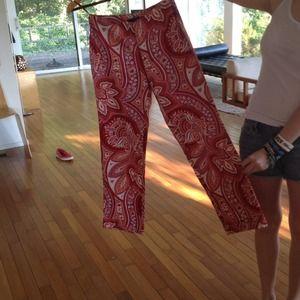 Reduced!! Banana Republic paisley print pants