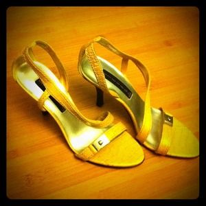 faux croc skin heels