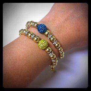 241745 Jewelry - Topaz/Turquoise Ball Bracelet