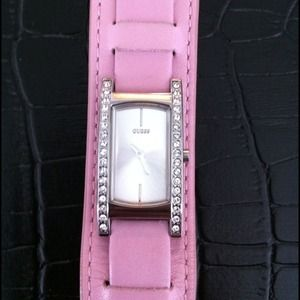 Pink Guess leather watch!!!