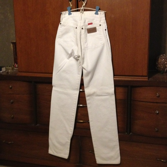 Wrangler Jeans - White Jeans, Cowboy's tight