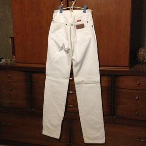 Wrangler Denim - White Jeans, Cowboy's tight