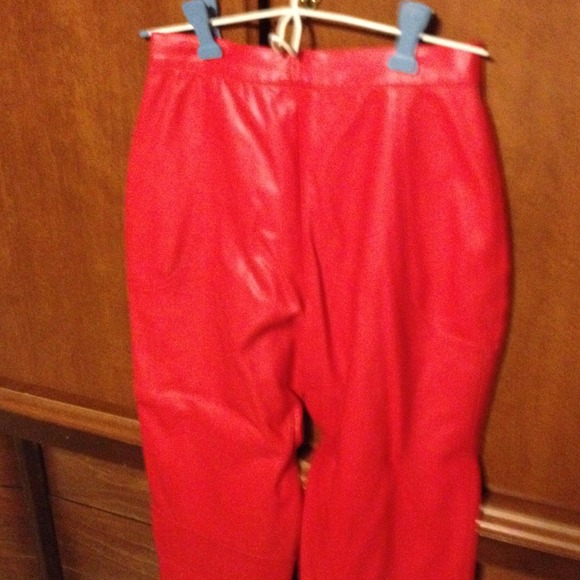 Pants - Red pleather pants, great Valentines mix match