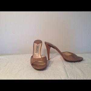 Jimmy Choo Shoes - Reserve****Jimmy Choo  Nappa Leather Golden Sandal