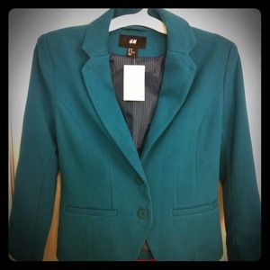 *RESERVED for @amberlealayton/H&M dark teal blazer