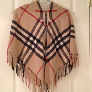 Burberry Jackets & Blazers - Burberry zippered wool poncho NO DISCOUNTS