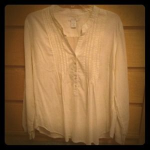 Delia's Tops - Flowy cream colored button up