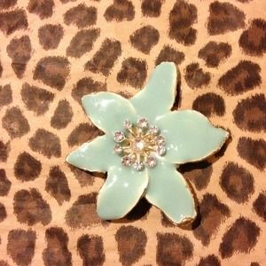 Accessories - Gorgeous Tiffany blue pin