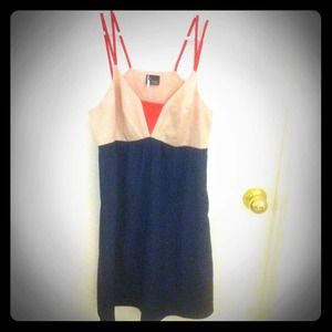 Anthropologie color block dress