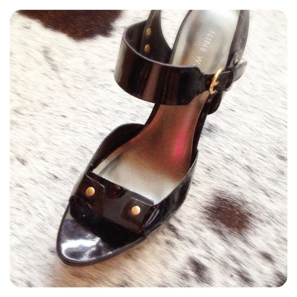Nine West Shoes - HALF OFF SALE | Black Patent PLATFORM Sandal
