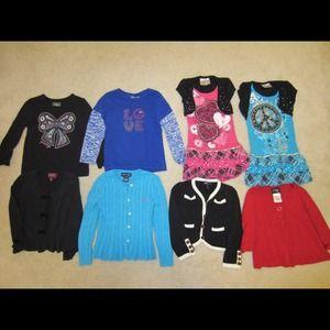 33 Girls Toddler Tops & Sweater Bundle