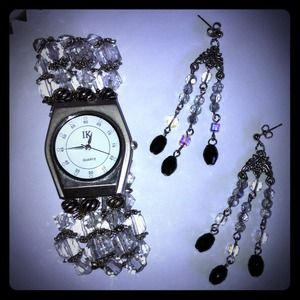Watch and earrings set