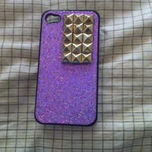 Other - pink sparkly studded iPhone 4 case