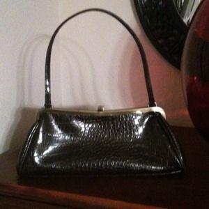 Handbags - Brown Croc Handbag