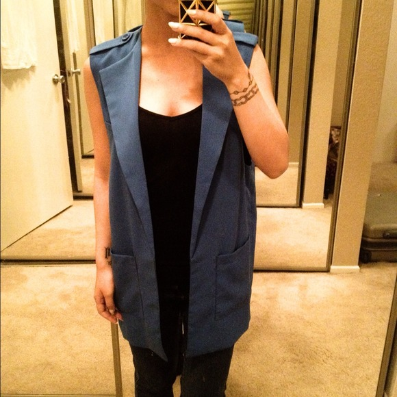 Forever 21 Tops - Royal Blue Blazer Vest