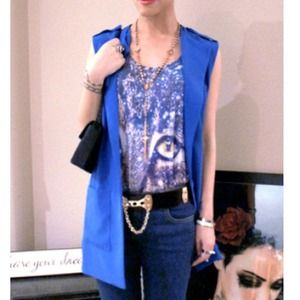 Forever 21 Tops - Royal Blue Blazer Vest