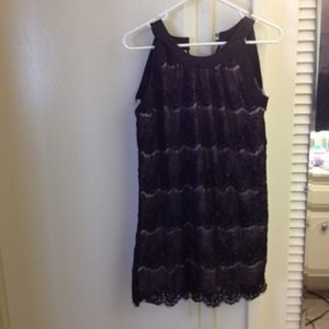 Dresses & Skirts - Black and cream lace dress