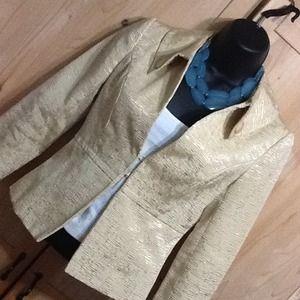 Vintage 3/4 Sleeve Golden Blazer