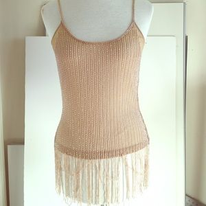 Tops - Beaded Nude Colored Top