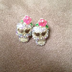 Bundle ring and earrings betsey crystal and pink