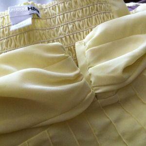 lovely chiffony lemon yellow top