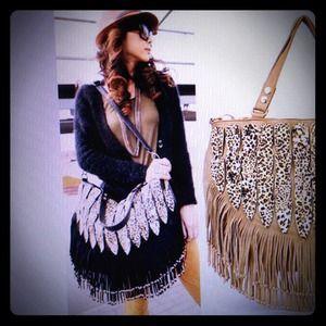 Gypsy style tassels handbag
