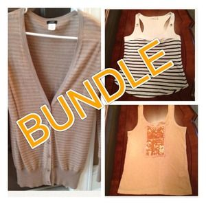 J. Crew Tops - BUNDLE for @tdhoov - J. Crew Cardigan & Tank Tops