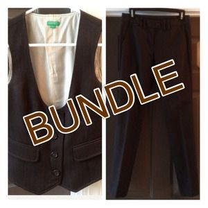 United Colors of Benetton Jackets & Blazers - BUNDLE for @gardner1097 - Benetton Vest & Trousers