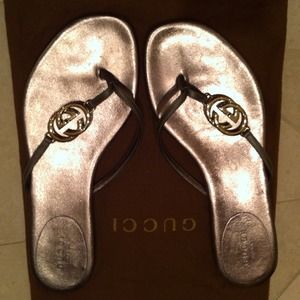 GUCCI Thong Leather Sandals🔴reduced $$$🔴