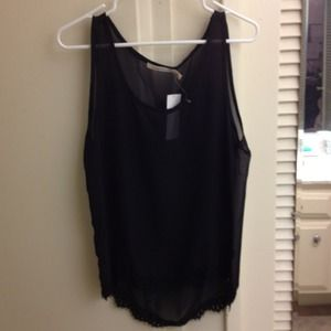 Tops - Brand new! Black sheer top